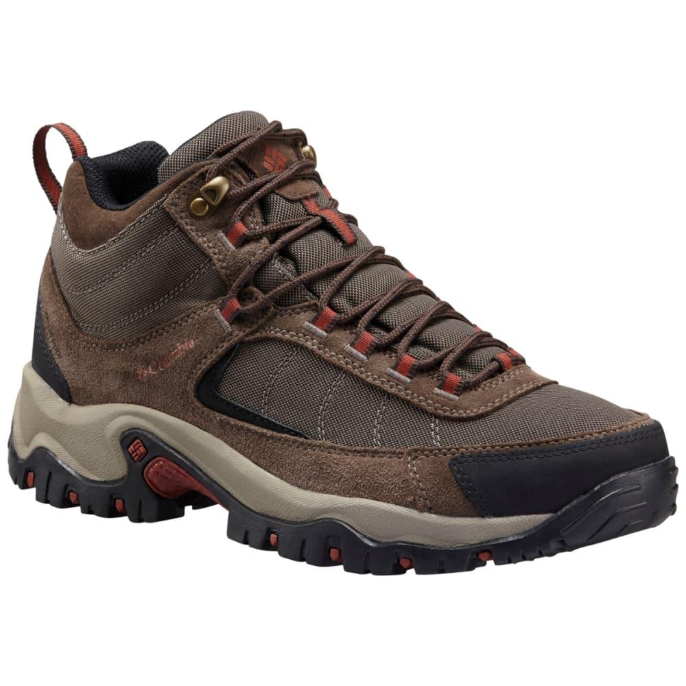 COLUMBIA Men's Granite Ridge Mid Waterproof Hiking Boots, Mud Rusty Brown, Wide - BROWN MUD RUSTY