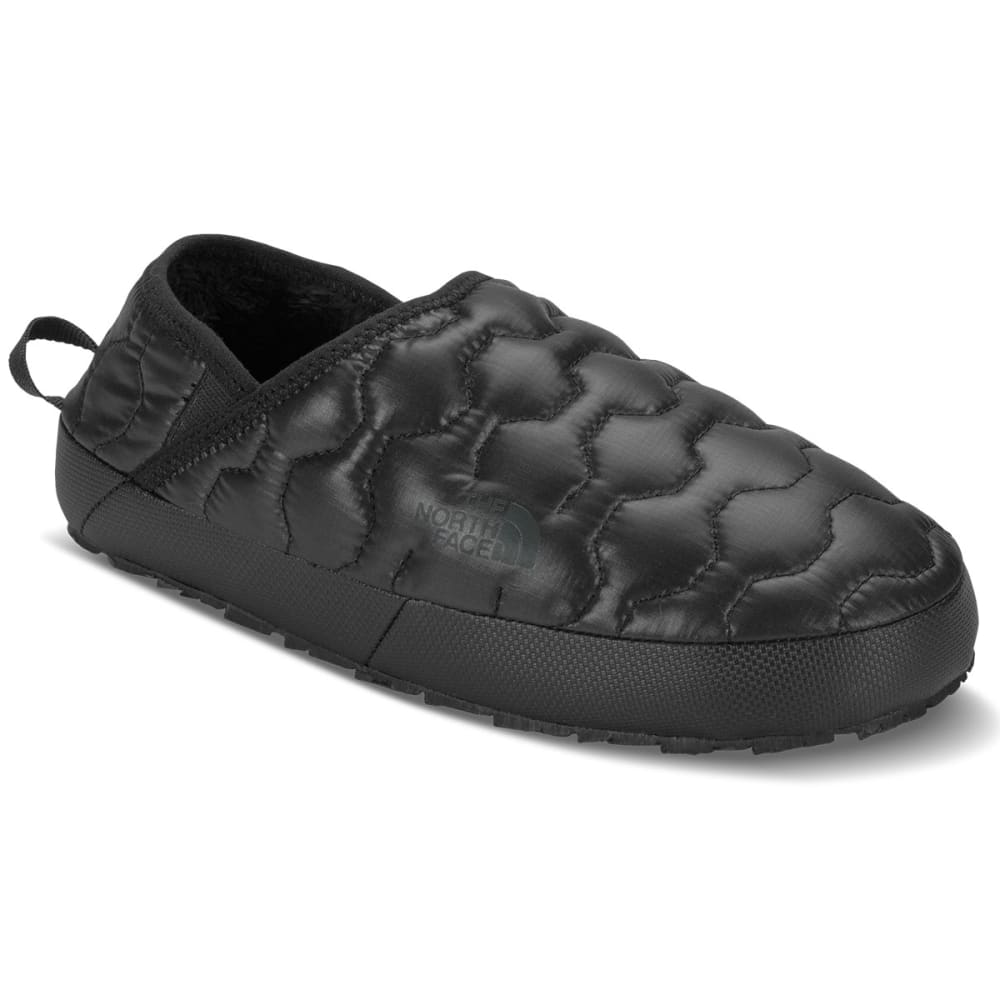 THE NORTH FACE Women's Thermoball Traction Mule IV Booties, Shiny TNF Black/Beluga Grey - TNF BLK/BELUGA GRY