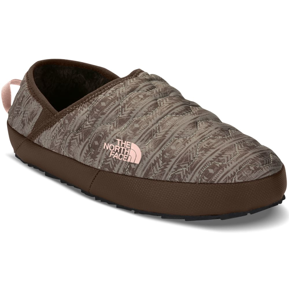 THE NORTH FACE Women's Thermoball Traction Mule IV Booties, Northwest Distressed Print/Evening Sand Pink - NORTHWEST PRINT