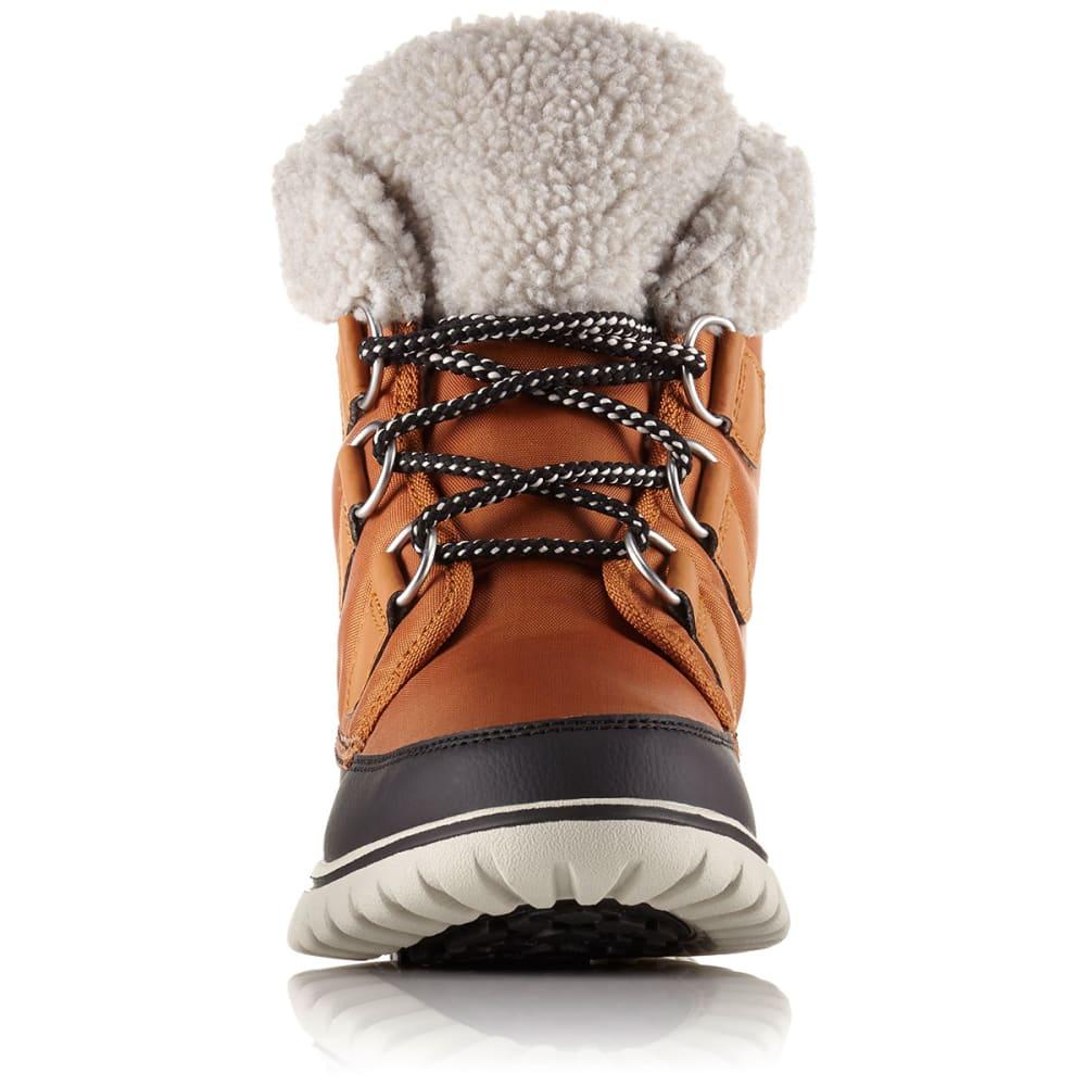 SOREL Women's Cozy Carnival Mid Waterproof Winter Boots, Caramel/Black - CARAMEL/BLACK