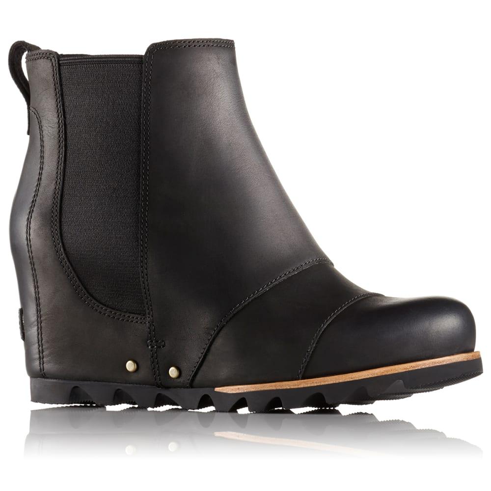 sorel women s lea wedge waterproof boots black quarry