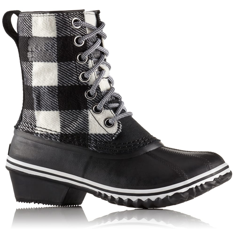 SOREL Women's 7 in. Slimpack 1964 Waterproof Rain Boots, Black/White - BLACK/WHITE