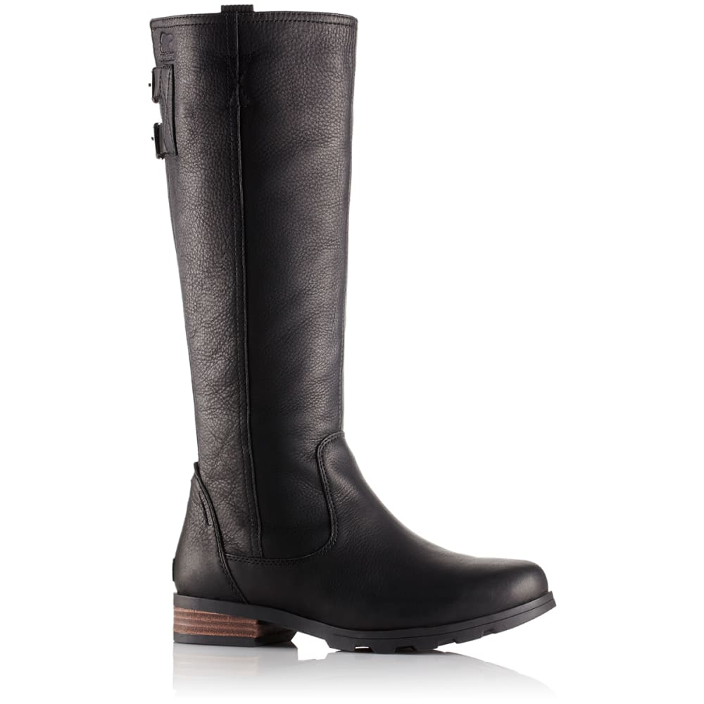 SOREL Women's Emelie Tall Premium Waterproof Boots, Black - BLACK