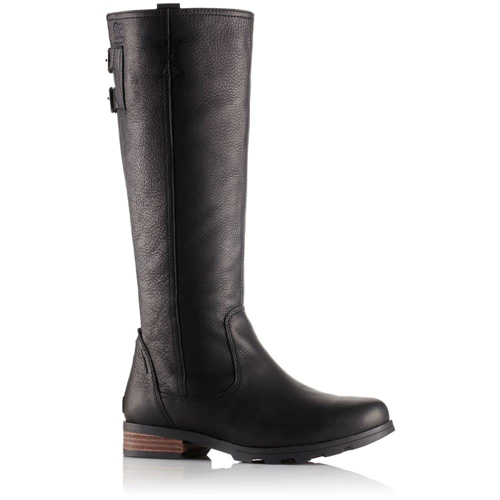 SOREL Women's Emelie Tall Premium Waterproof Boots, Black - BLACK