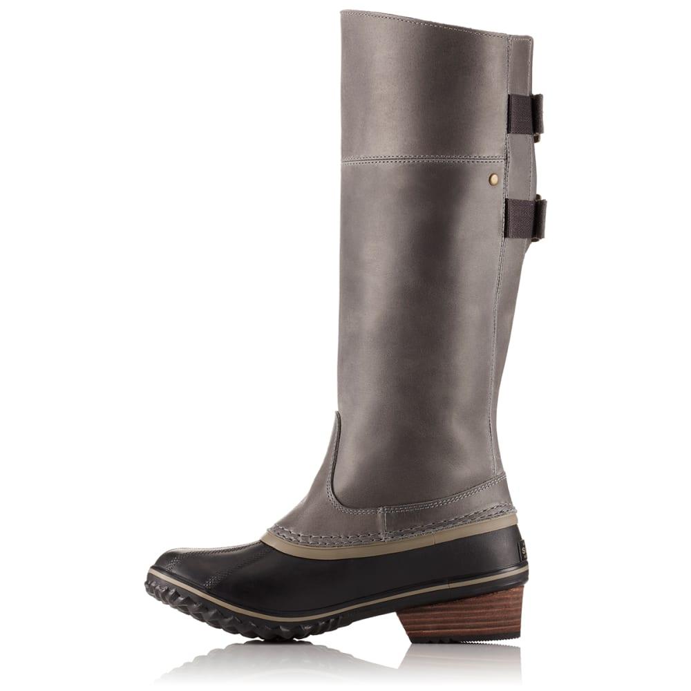 SOREL Women's Slimpack Riding Tall II Waterproof Boots, Quarry/Pebble - QUARRY/PEBBLE