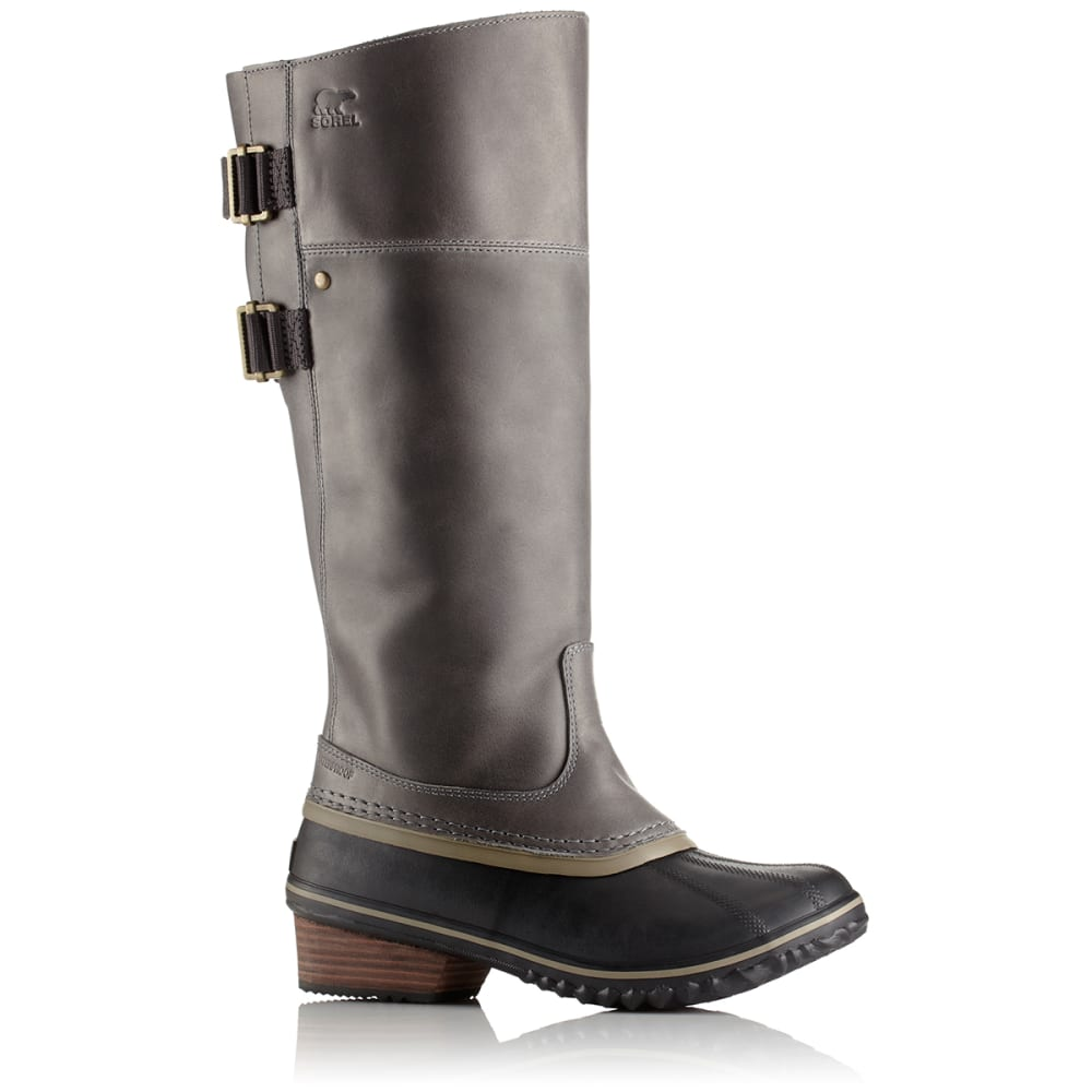SOREL Women's Slimpack Riding Tall II Waterproof Boots, Quarry/Pebble - QUARRY/PEBBLE
