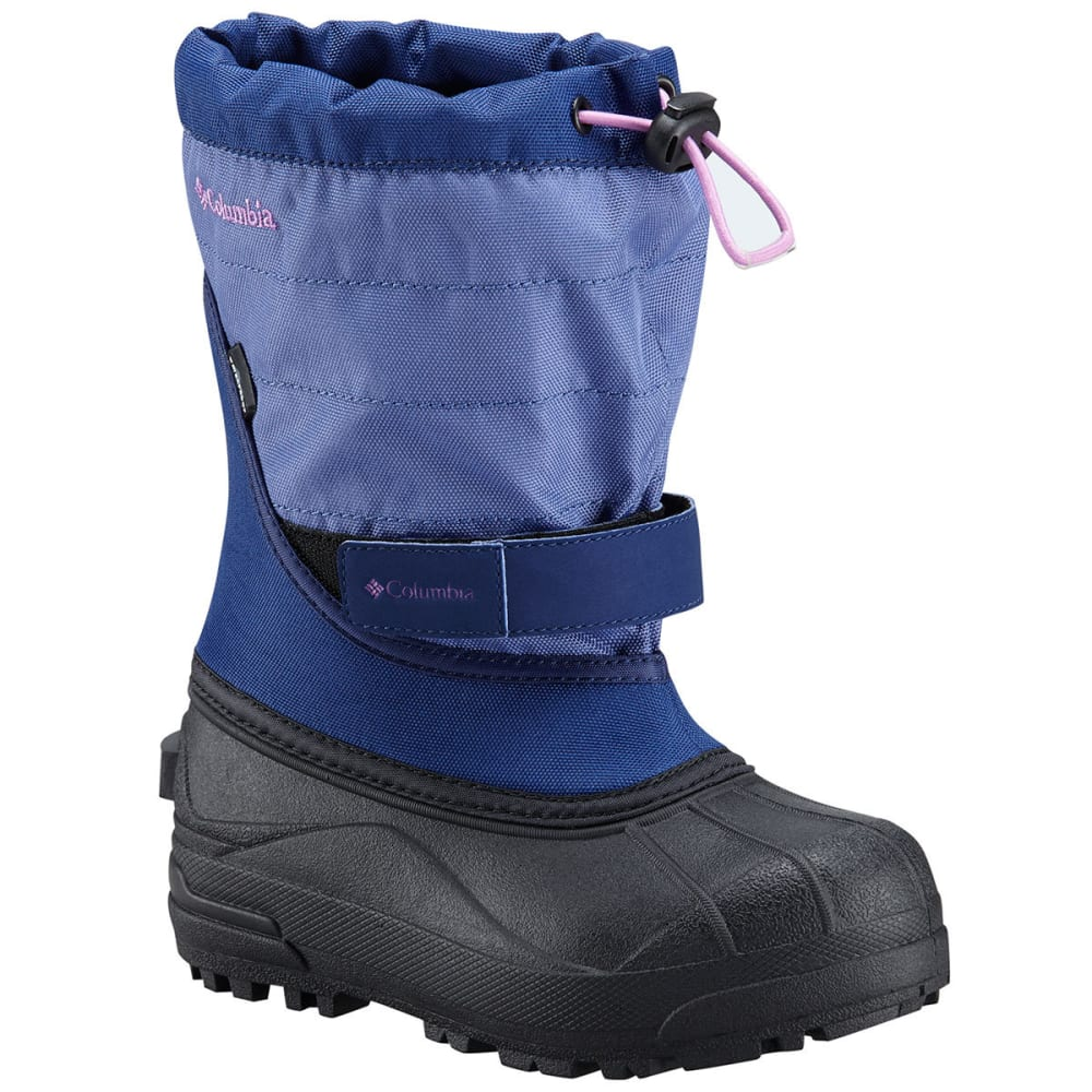 COLUMBIA Girls' Powderbug Plus II Waterproof Snow Boots, Eve/Northern Lights 6