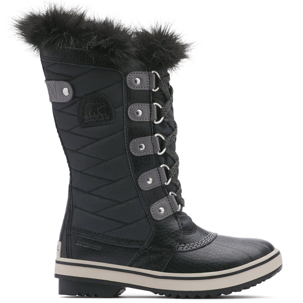 SOREL Girls' Tofino II Waterproof Winter Boots, Black/Quarry - BLK/QUARRY-010