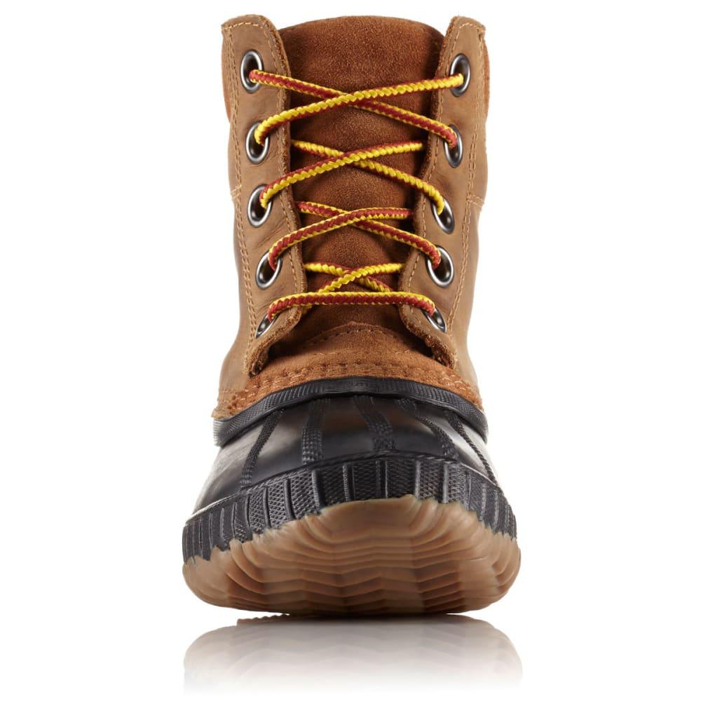 9a317bb30e3 SOREL Boys' Cheyanne II Lace Waterproof Duck Boots, Black/Elk