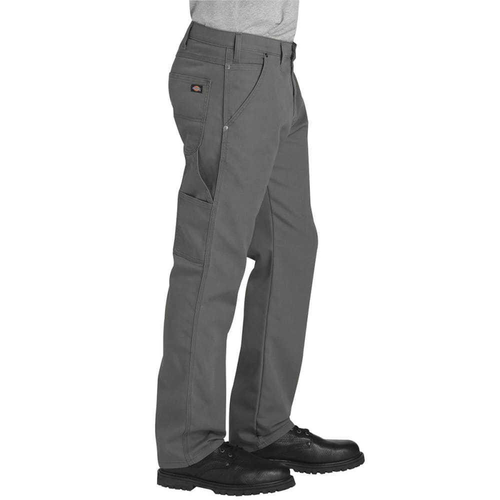 DICKIES Men's FLEX Regular Fit Straight Leg Tough Max™ Duck Carpenter Pants - SSL SLATE GRAY