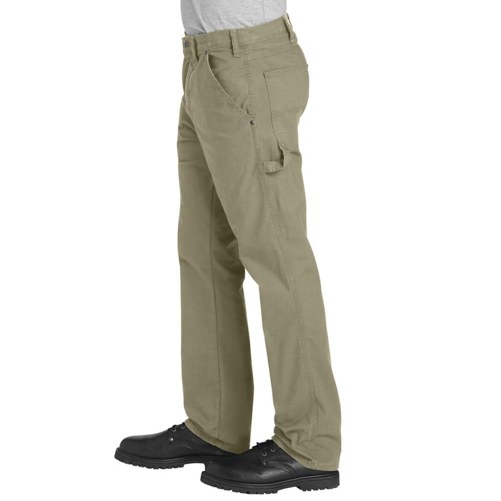 DICKIES Men's FLEX Regular Fit Straight Leg Tough Max™ Ripstop Carpenter Pants - RDS DESERT TAN