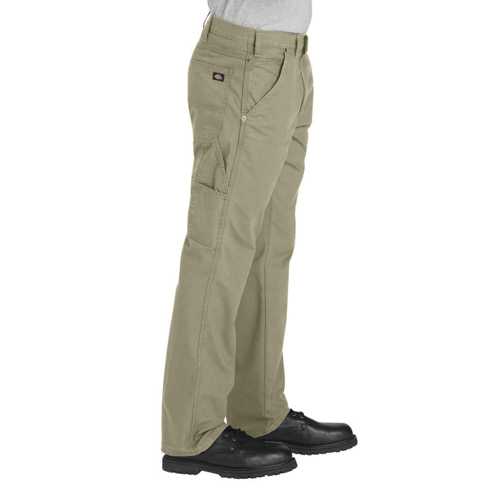 DICKIES Men's FLEX Regular Fit Straight Leg Tough Max Ripstop Carpenter Pants - RDS DESERT TAN