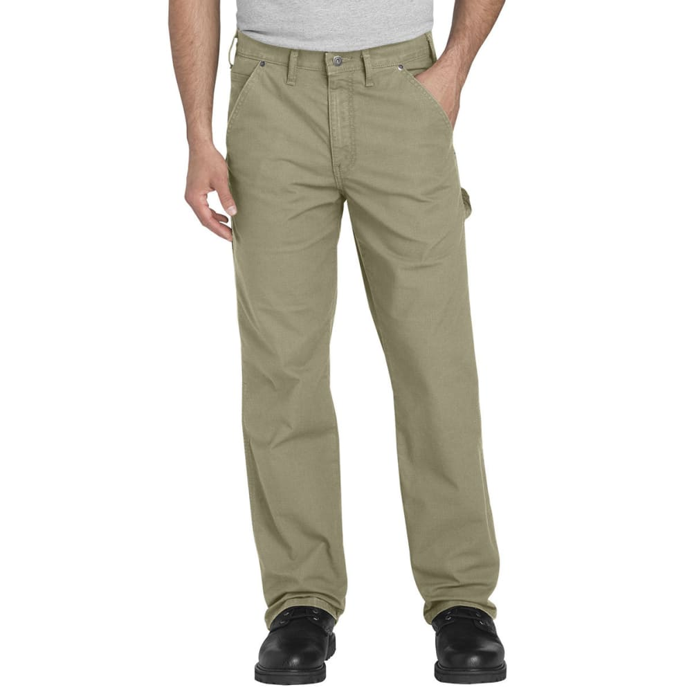 DICKIES Men's FLEX Regular Fit Straight Leg Tough Max™ Ripstop Carpenter Pants - RDS DESERT TAN