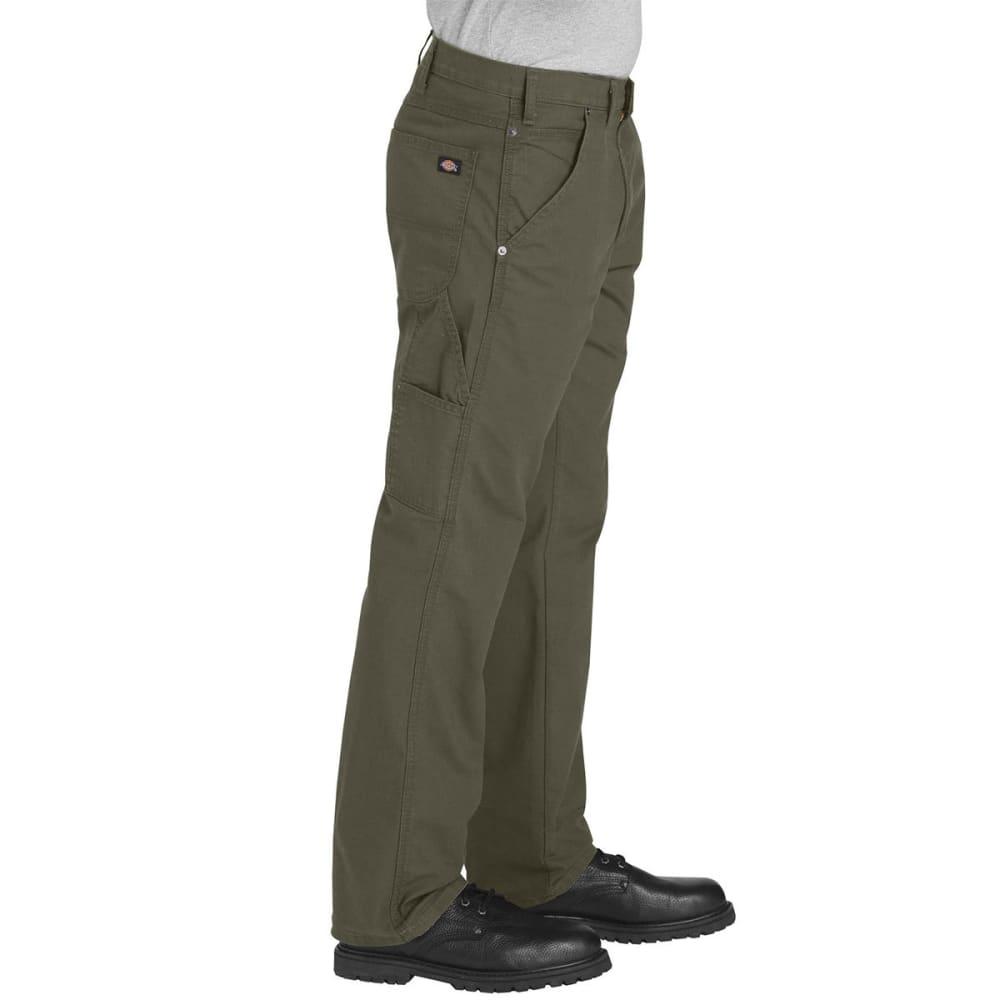 DICKIES Men's FLEX Regular Fit Straight Leg Tough Max Ripstop Carpenter Pants - RMS MOSS