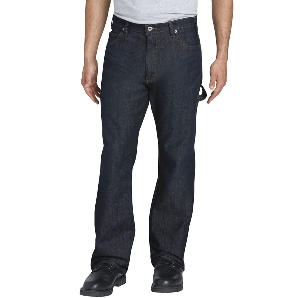 DICKIES Men's Flex Relaxed Fit Straight-Leg Carpenter Tough Max Denim Jeans - TDW TUMBLED DARK WAS