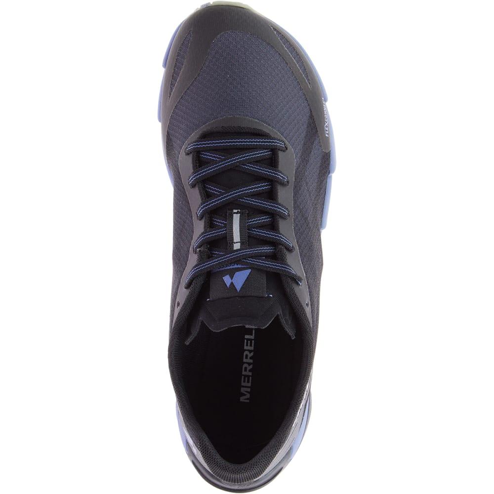 MERRELL Women's Bare Access Flex Trail Running Shoes - BLACK/MET LILAC