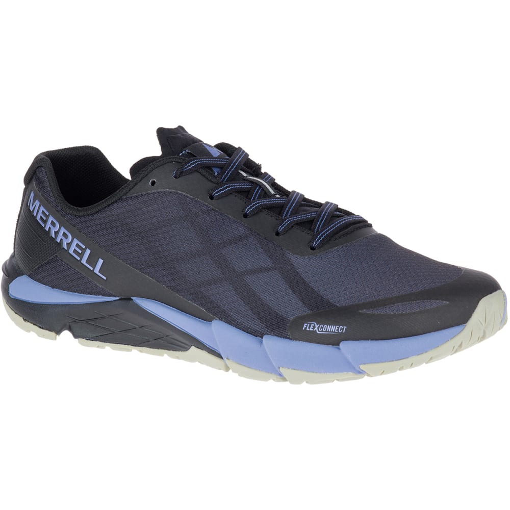 MERRELL Women's Bare Access Flex Trail Running Shoes - BLACK/MET LILAC