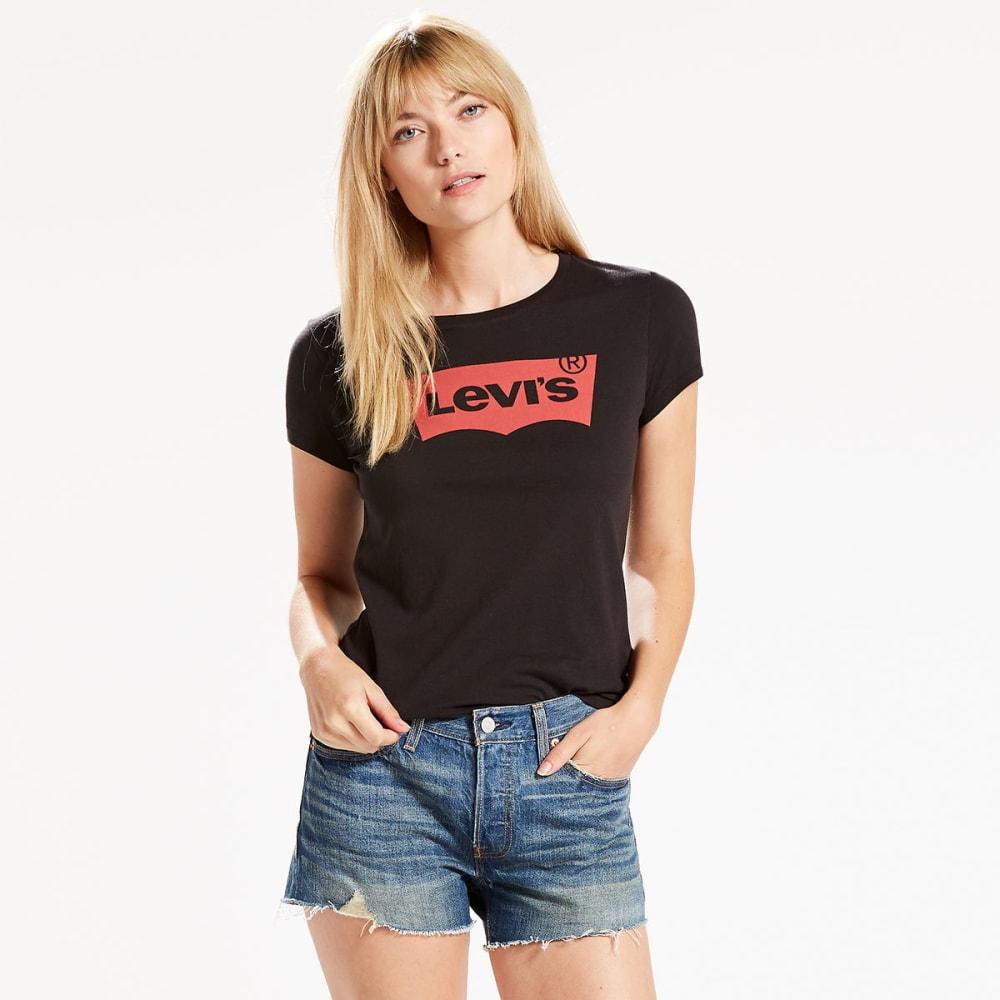 LEVI'S Women's Slim Crew Logo Tee - 0142-CORE BATWING BL
