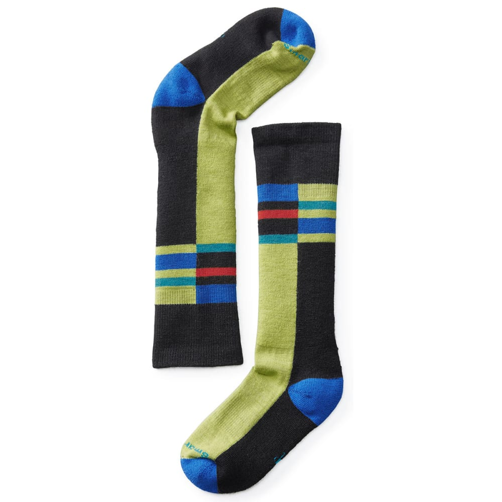SMARTWOOL Kids' Wintersport Stripe Socks - BLACK 001
