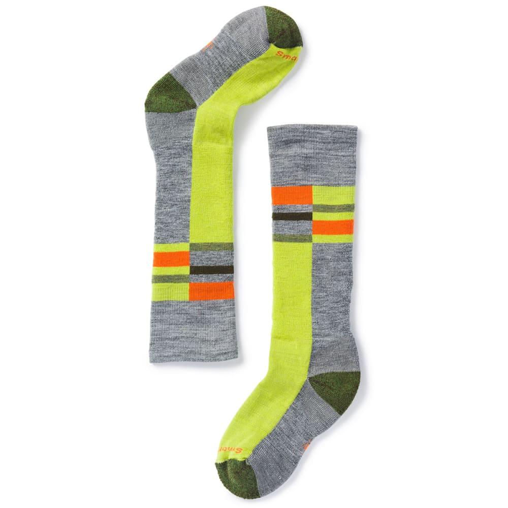 SMARTWOOL Kids' Wintersport Stripe Socks - 039-LIGHT GREY