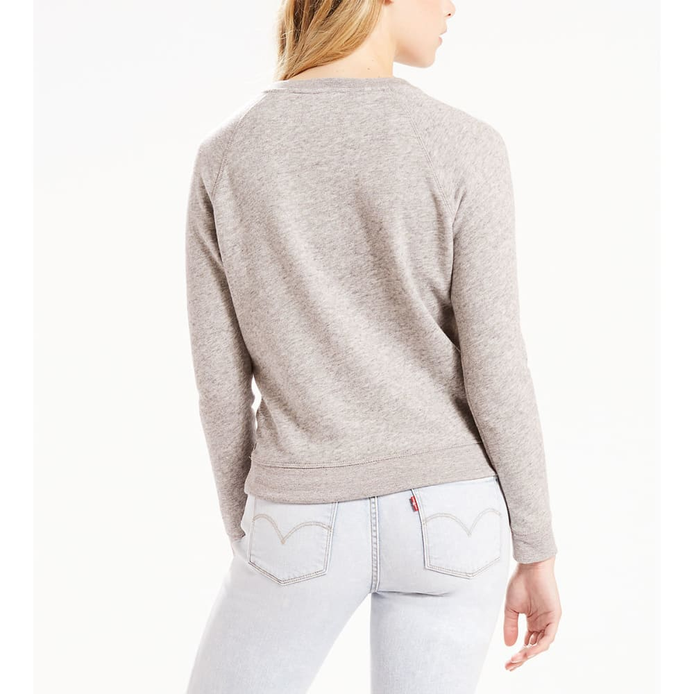 LEVI'S Women's Graphic Crewneck Sweatshirt - 0050-BATWING SMOKEST