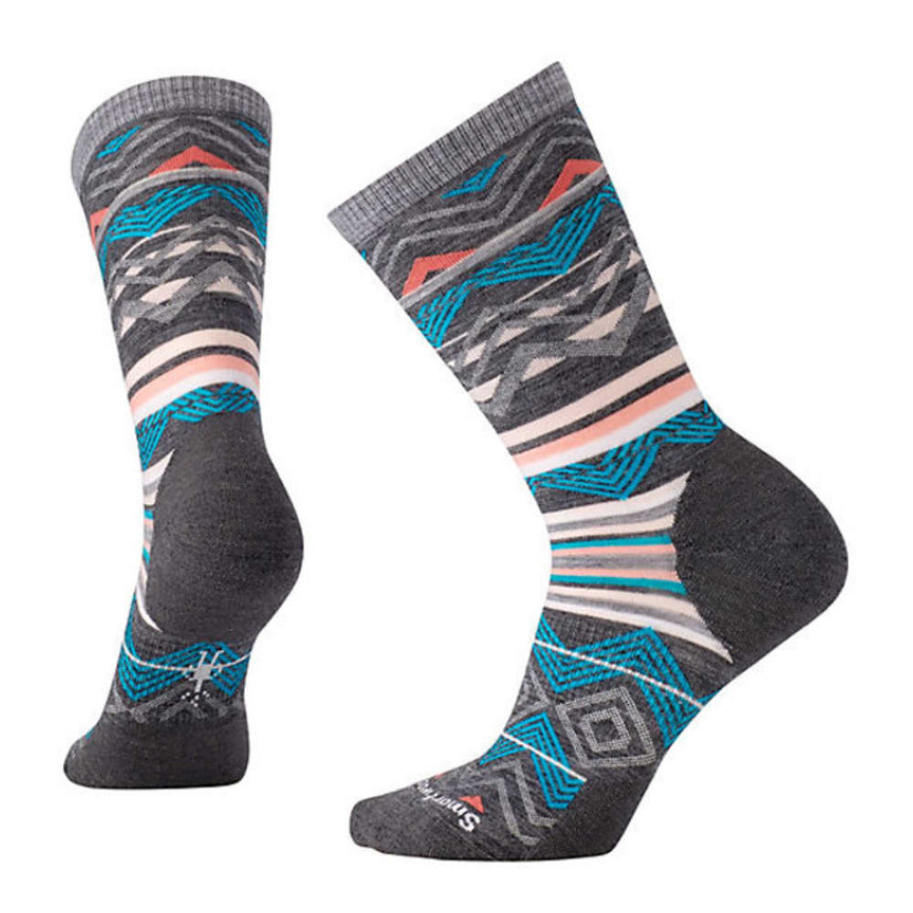 SMARTWOOL Women's Ripple Creek Crew Socks - DK GREY 084