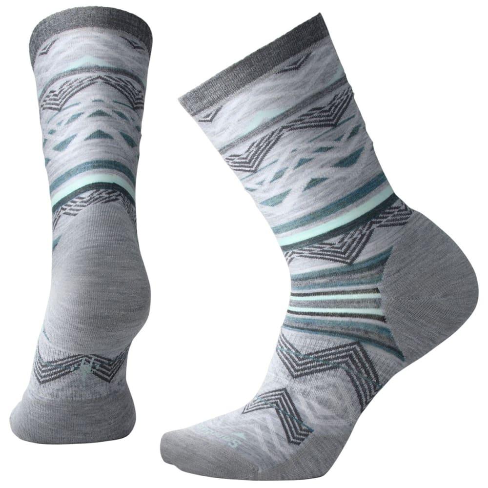 SMARTWOOL Women's Ripple Creek Crew Socks - 833-LIGHT GRAY HEATH