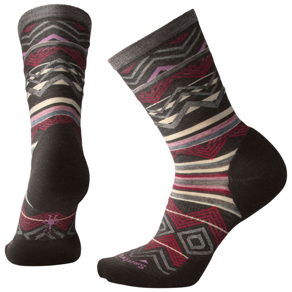 SMARTWOOL Women's Ripple Creek Crew Socks - 216-CHESTNUST HEATHE