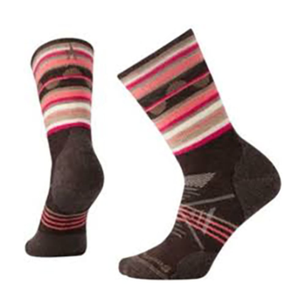 SMARTWOOL Women's PhD® Outdoor Medium Pattern Crew Socks - CHESTNUT 207