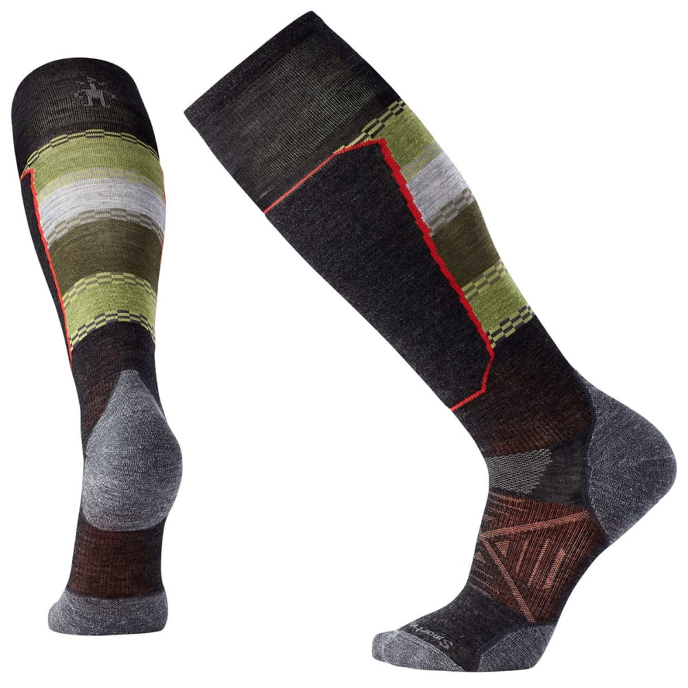 SMARTWOOL Men's PhD Ski Light Elite Pattern Socks - GREY-003