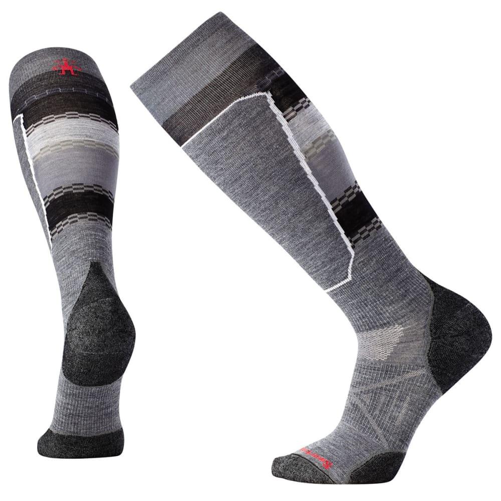 SMARTWOOL Men's PhD Ski Light Elite Pattern Socks - MED GRAY-052