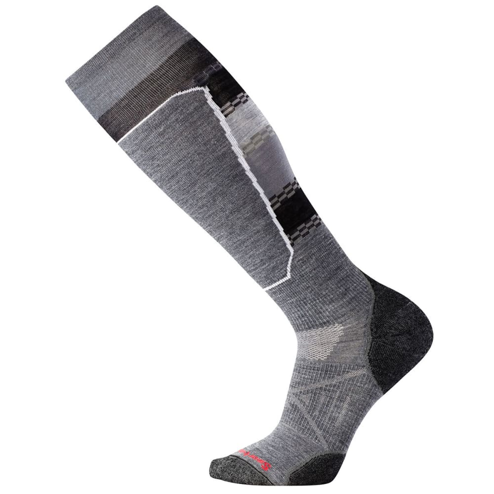 SMARTWOOL Men's PhD Ski Light Elite Pattern Socks - MED GRAY-052
