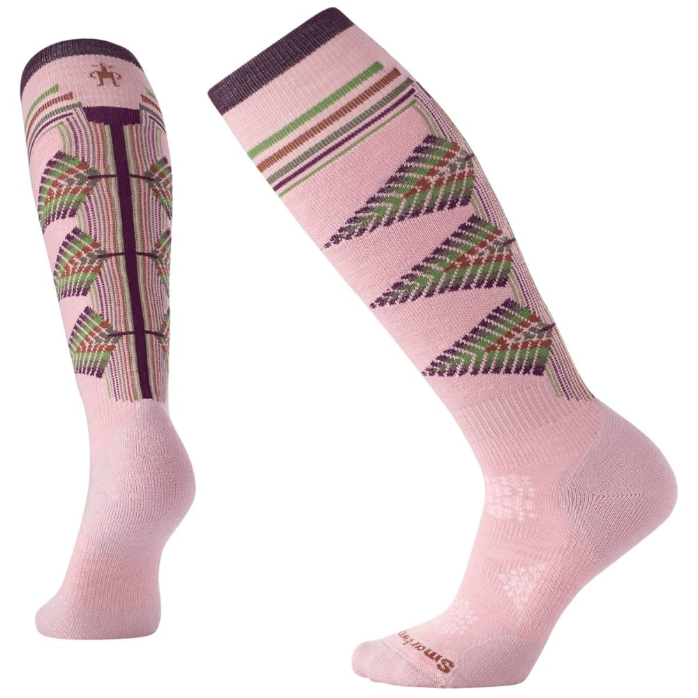 SMARTWOOL Women's PhD Ski Light Pattern Socks - ROSEWOOD 580