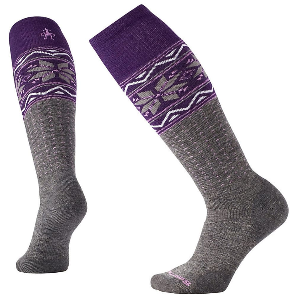 SMARTWOOL Women's PhD Slopestyle Medium Wenke Socks - MED GREY 052