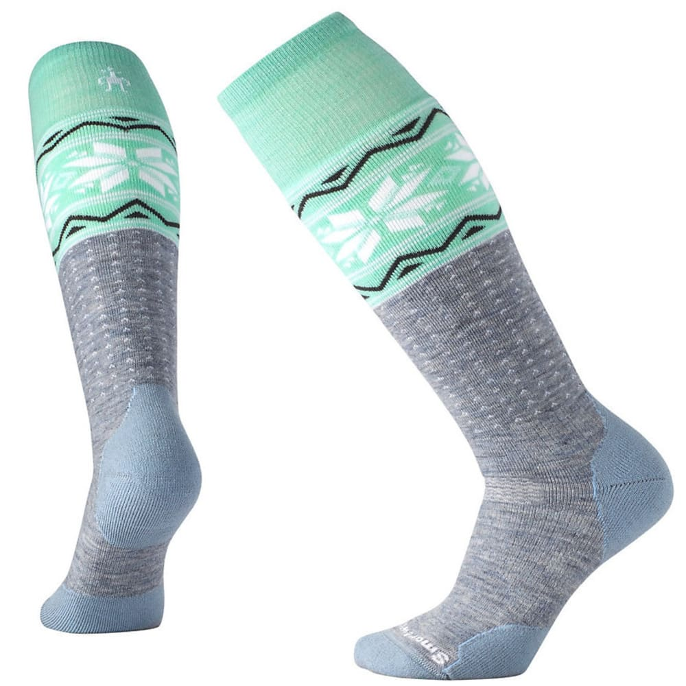 SMARTWOOL Women's PhD Slopestyle Medium Wenke Socks - BLUE ICE 597