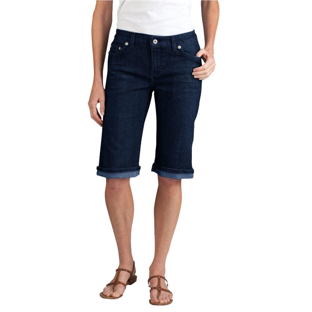 "DICKIES Women's Slim Fit 13"" Stretch Denim 5-Pocket Short, Extended Sizes - DK STONE WASH-DSW"