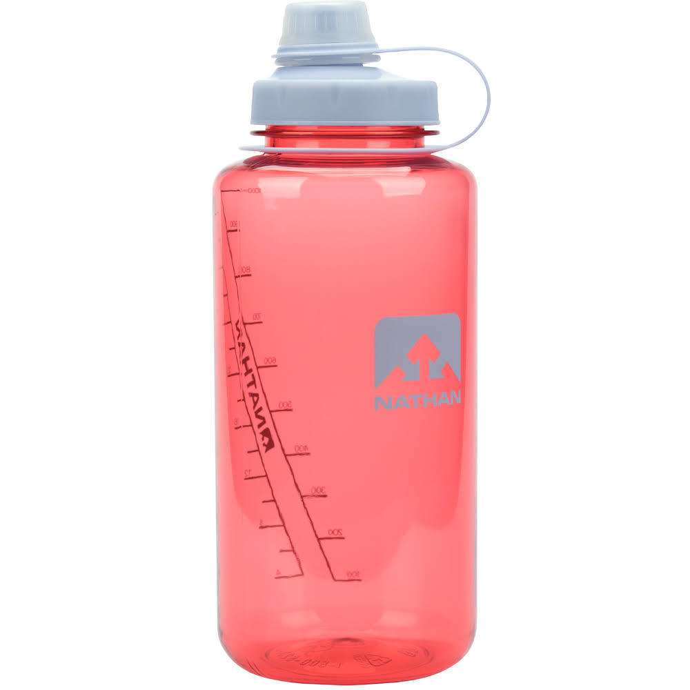 NATHAN SPORTS BigShot Hydration Bottle, 1 L - SHELL PINK-0261