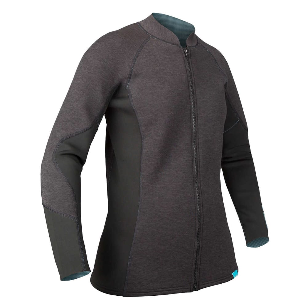 NRS Women's HydroSkin 1.5 Jacket - CHARCOAL HEATHER