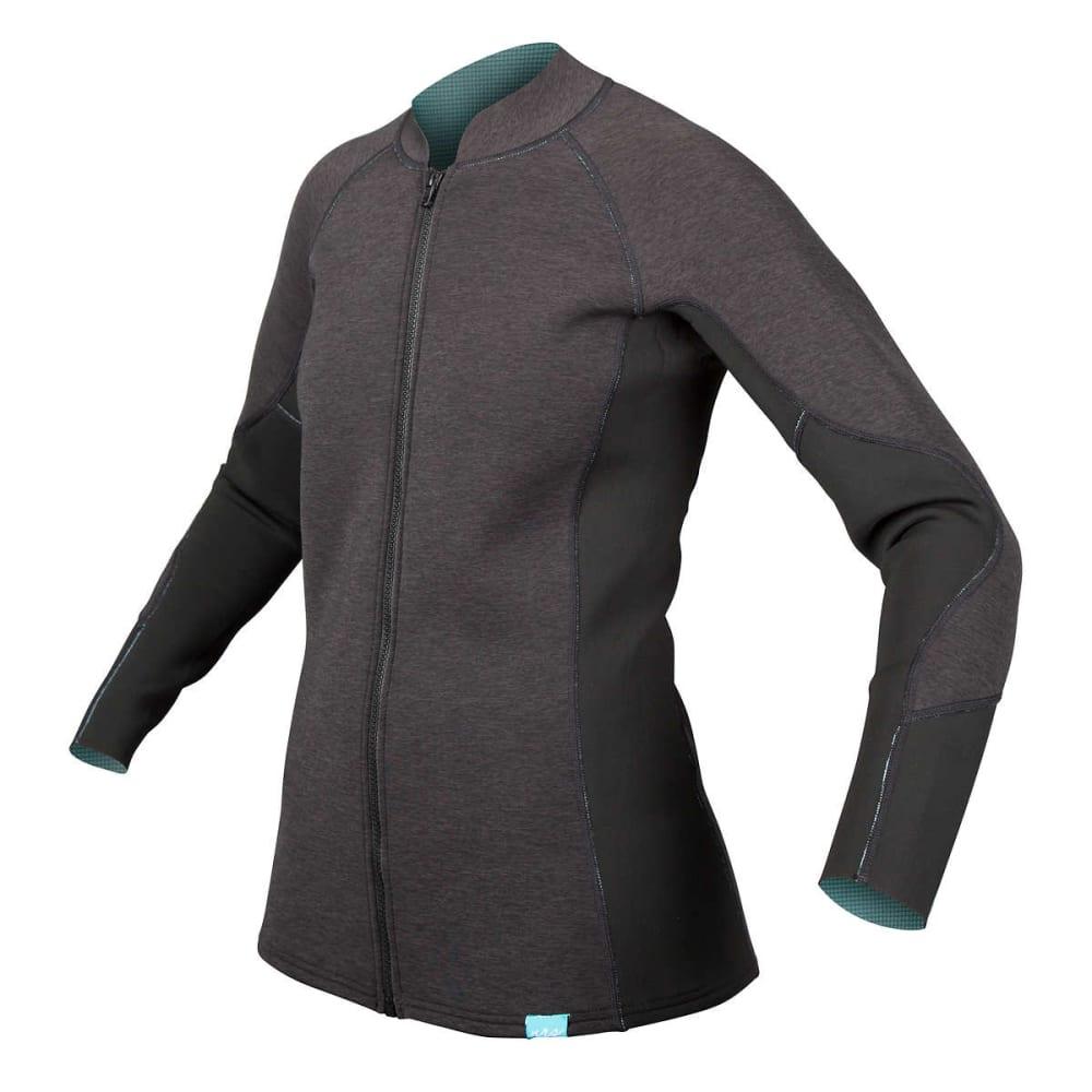 NRS Women's HydroSkin 1.5 Jacket - CHARCOAL HEATHER