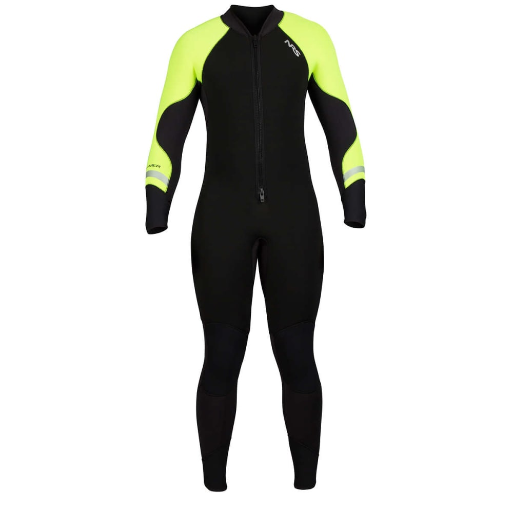 NRS Steamer 3/2 Wetsuit - BLACK/HIGH VIS GREEN