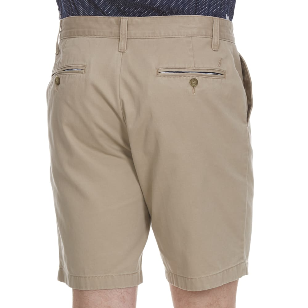 NAUTICA Men's Anchor Twill Classic Flat-Front Shorts - TRUE KHAKI-2TK