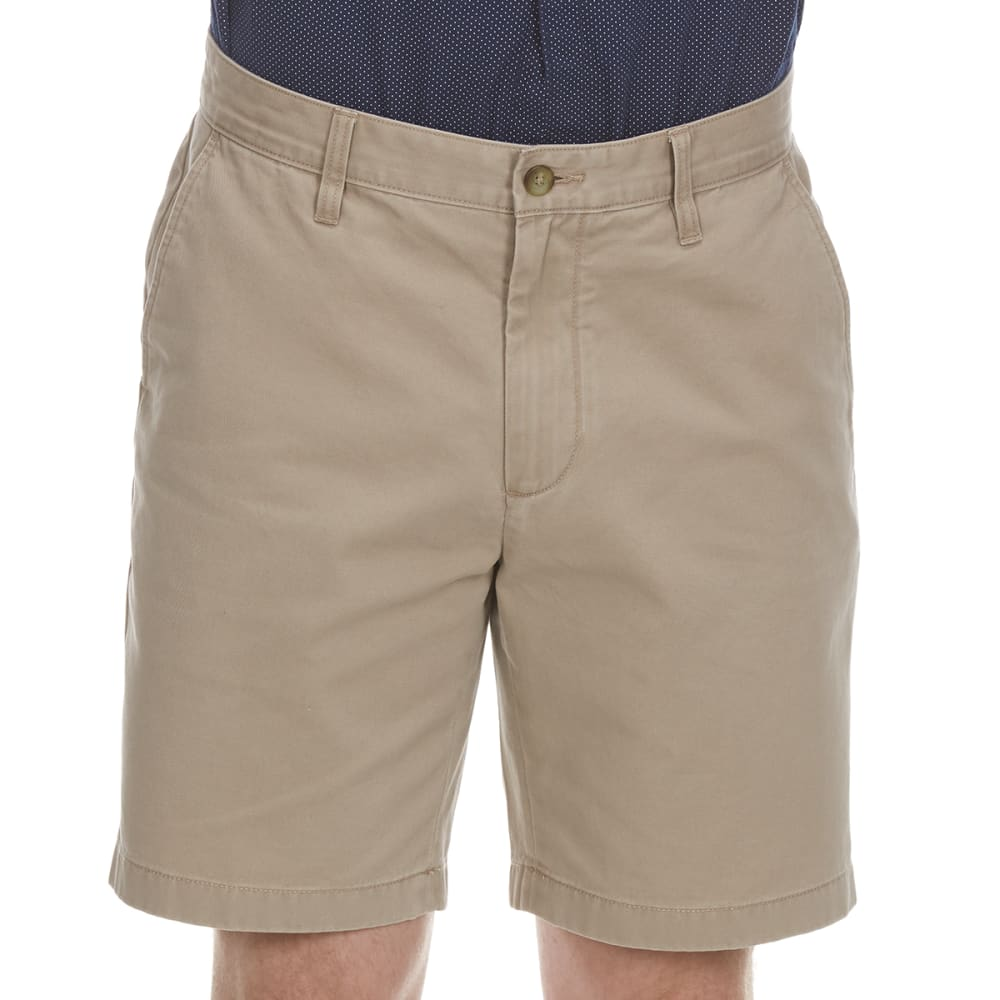 NAUTICA Men's Anchor Twill Classic Flat-Front Shorts - TRUE KHAKI-2TK