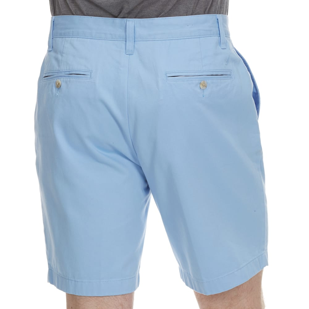 NAUTICA Men's Anchor Twill Classic Flat-Front Shorts - NOON BLUE-4NN1