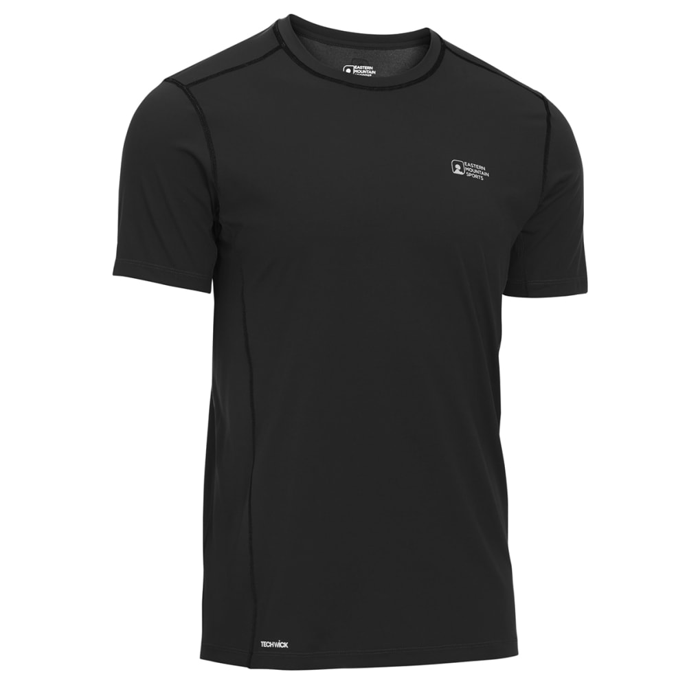 EMS Men's Techwick Trail Run Short-Sleeve Tee - BLACK