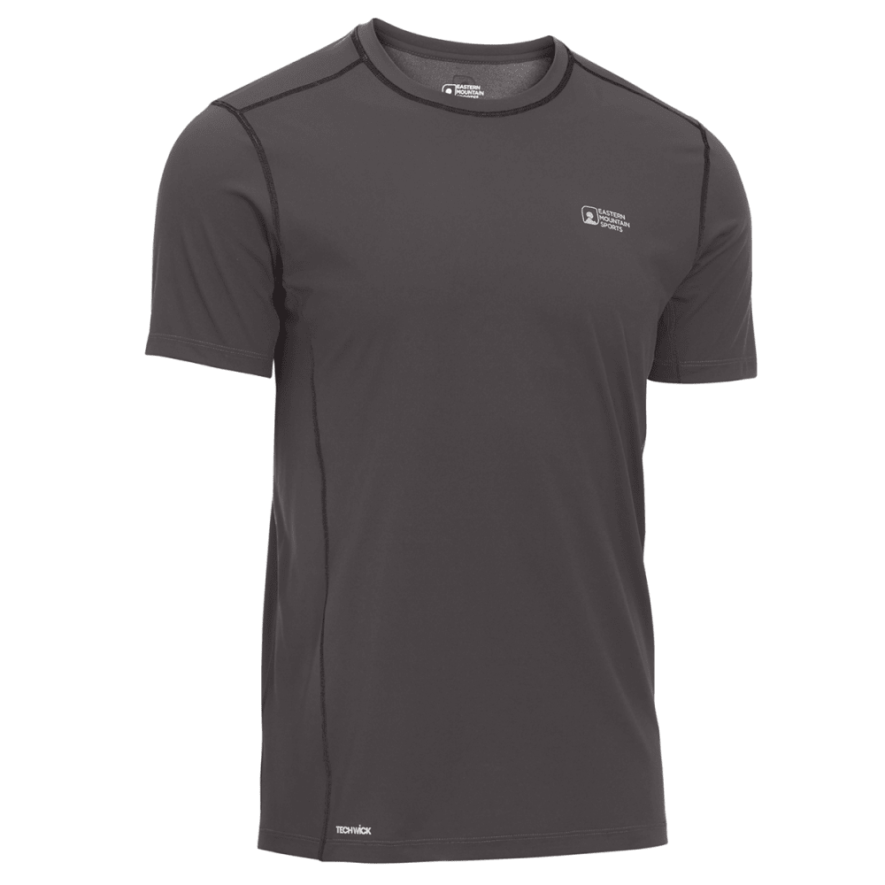 EMS Men's Techwick Trail Run Short-Sleeve Tee - FORGED IRON