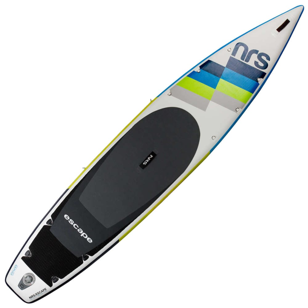 "NRS Escape 12'6"" Inflatable SUP Board - WHITE/GREY"
