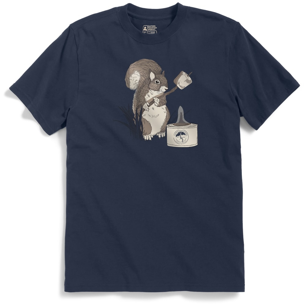 EMS Men's Roasting Marshmallows with Irving B. Squirrel Graphic Tee - NAVY BLAZER