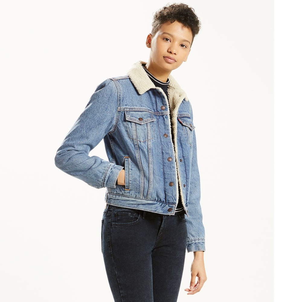 LEVI'S Women's Original Sherpa Trucker Jacket - 0000-DIVIDED BLUE