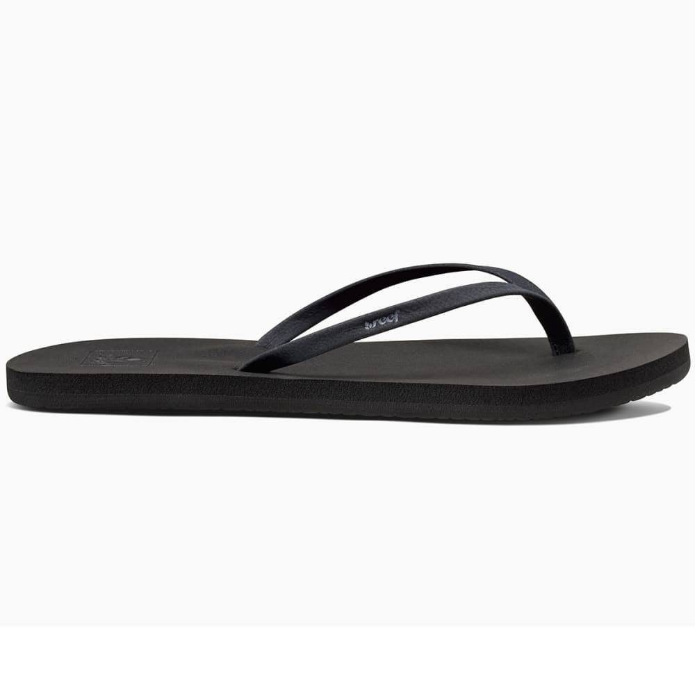 REEF Women's Bliss Nights Flip Flops, Black - BLACK-BLA