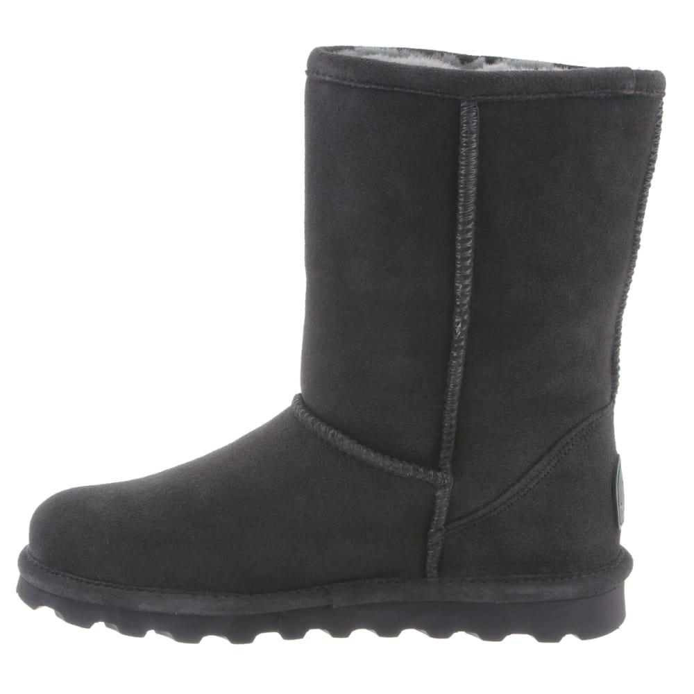 BEARPAW Women's Elle Short Boots, Charcoal - CHARCOAL